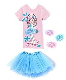 Little Girls Top and Tutu Skirt Set