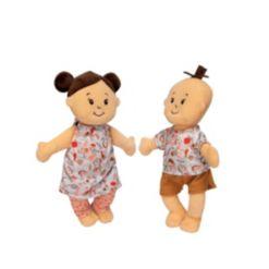 "Manhattan Toy Company Wee Baby Stella Peach 12"" Soft Toy Baby Twin Dolls"