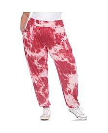 Women's Plus Size Tie Dye Harem Pants