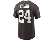 Cleveland Browns Men's Pride Name and Number Wordmark T-shirt - Nick Chubb