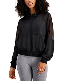 Hooded Mesh Jacket, Created for Macy's
