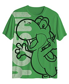 Big Boys Mario Oversized Yoshi T-shirt