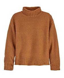 Women's Seed Stitch Roll Neck Sweater