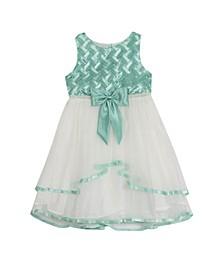 Little Girls Basket Weave Dress