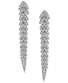 Diamond Drop Earrings (3/4 ct. t.w.) in 14k White Gold