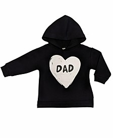 Baby Boys and Girls Prints Long Sleeve Hoodie, Dad