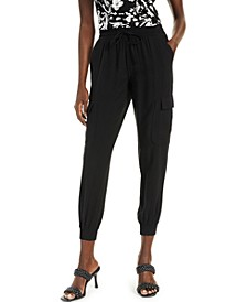 Petite Utility Jogger Pants, Created for Macy's