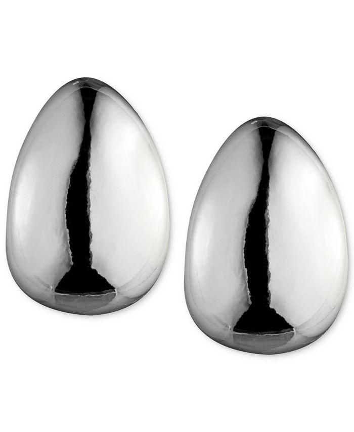 Anne Klein - Silver-Tone Hoop Clip-On Earrings