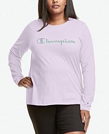 Plus Size Logo Long-Sleeve Top