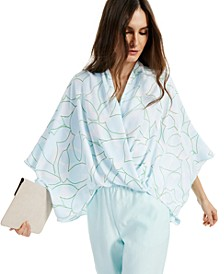Printed Wide-Sleeve Surplice Top, Created for Macy's