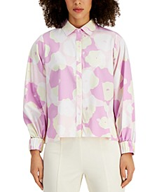 Stretchy Printed Button-Up Shirt, Created for Macy's