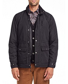 Tallia Men's Slim Fit Black Field Jacket and a Free Face Mask With Purchase