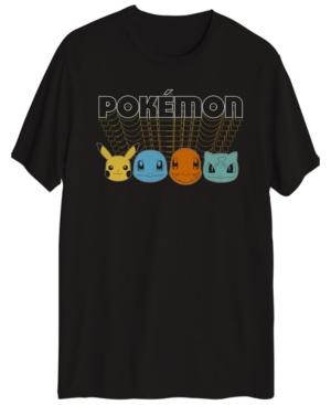 Pokemon Face Fade Men's Short Sleeve Graphic T-shirt