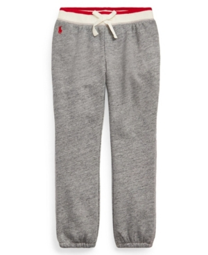 Polo Ralph Lauren Cottons LITTLE GIRLS COTTON-BLEND-TERRY JOGGER PANT