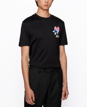 Hugo Boss Boss Men's Tiburt Regular-fit Cotton T-shirt In Black