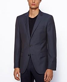 BOSS Men's Huge6 Slim-Fit Virgin-Wool Jacket