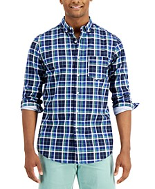 Men's Plaid Cotton Shirt with Pocket, Created for Macy's