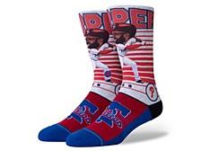 Men's Philadelphia Phillies Bryce Harper Big Head Crew Socks