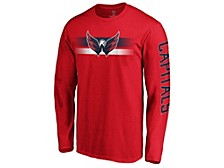 Washington Capitals Men's Halftone Long Sleeve T-Shirt