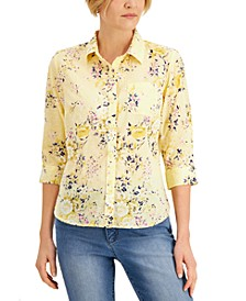 Cotton Floral-Print Shirt, Created for Macy's