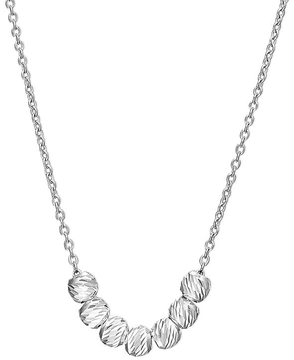 Unwritten Mini Bead Necklace in Sterling Silver