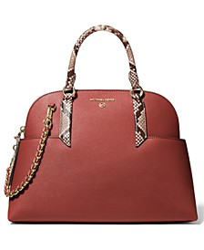 Hudson Large Leather Dome Satchel