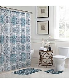 Caroline Geometric Bathroom Shower Set, 15 Piece