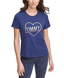 Metallic Heart Logo T-Shirt