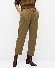 Women's Cotton Pleated Pants
