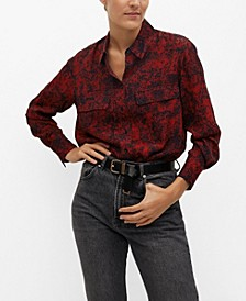 Women's Printed Flowy Shirt