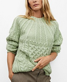 Women's Contrasting Knit Sweater