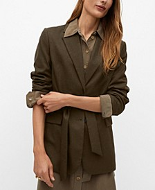 Women's Structured Bow Blazer