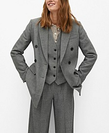 Women's Belt Suit Blazer