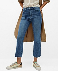 Women's Crop Flared Jeans
