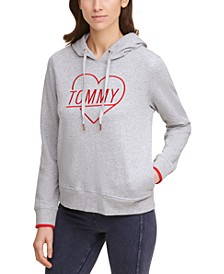 Embroidered Heart Logo Hoodie