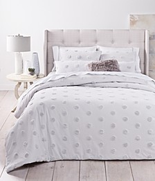 Tufted-Chenille Dot Bedding Collection, Created for Macy's