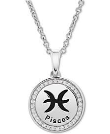 Diamond Pisces Zodiac Pendant Necklace (1/10 ct. t.w.) in Sterling Silver