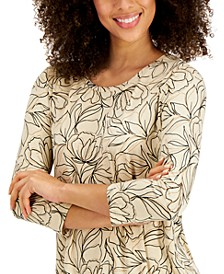 Printed 3/4-Sleeve T-Shirt, Created for Macy's
