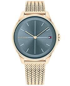 Women's Carnation Gold-Tone Mesh Bracelet Watch 35mm