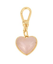 Collectible Carved Rose Quartz Heart Charm