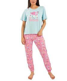 Flamingo Jogger Pants Pajama Set