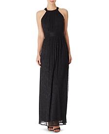 INC Metallic Crinkle Maxi Dress, Created for Macy's