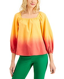 Square-Neck Ombré Top, Created for Macy's