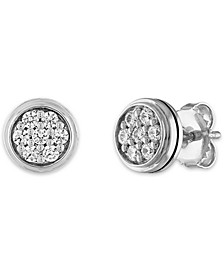 White Sapphire Cluster Stud Earrings (7/8 ct. t.w.) in Sterling Silver, Created for Macy's