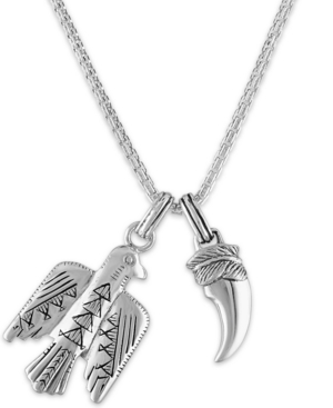 """Bird and Talon 24"""" Pendant Necklace in Sterling Silver"""