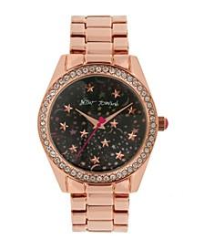 Women's Celestial Starry Rose Gold-Tone Stainless Steel Watch 40mm