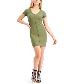 Eco Raylynn Ribbed Henley Dress