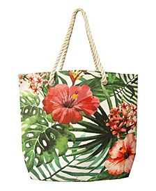 Women's Floral Vine Beach Tote Bag