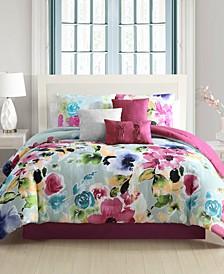 Addy Comforter with 5 Bonus Pieces Set, Queen