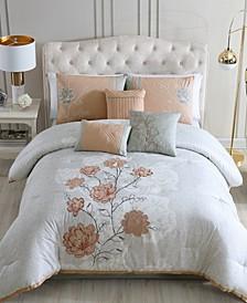Bridget Comforter with 6 Bonus Pieces Set, Queen